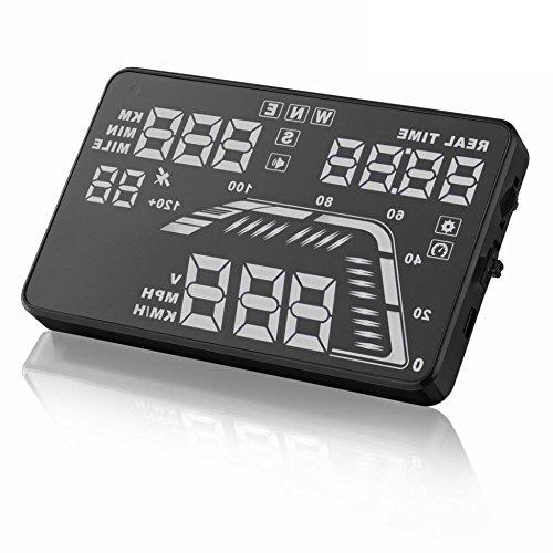 Q7, 14cm Universal Auto GPS Auto HUD Head up Display Satellite Zeit Höhe Overspeed Achtung tachometern (13.0 Lcd-display)