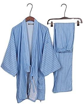 Trajes de estilo japonés de los hombres de algodón puro kimono traje de pijama Suit Dressing Set- # 08