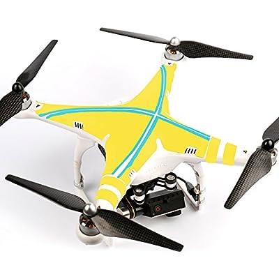 Ake Drone Body Skin Decals Shell Waterproof Sticker Kit for DJI Phantom 2 Vision - 6003