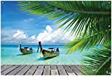 Wallario Garten-Poster Outdoor-Poster, Sonnenboot in der