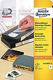 AVERY Zweckform L4742REV-25 Etiketten für VHS-Videokassetten (A4, 300 Stück, 78,7 x 46,6 mm, 25 Blatt) weiß