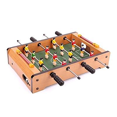 HoneybeeLY Baby-Foot de Table Mini, Table de Soccer intérieure en Bois, Jeu de Football de Table, Mini Jeux de Table