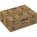 Whiskas Katzenfutter Nassfutter Adult 1+ Fisch- und Geflügelauswahl in Gelee, 84 Portionsbeutel (84 x 100g)