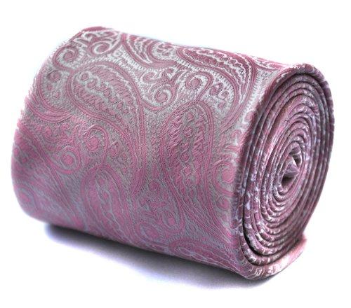 frederick-thomas-cravatta-paisley-uomo-rosa-pink-taglia-unica