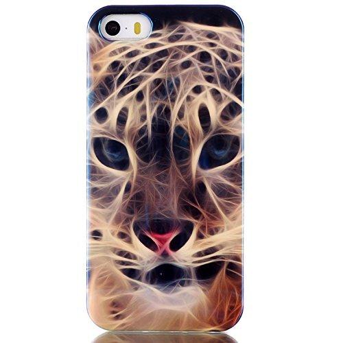 Beiuns coque en silicone pour Apple iPhone 5 5G 5S TPU Housse Coque -N166 tigre N166 tigre