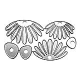 BINGMAX - Plantilla de acero al carbono con diseño de pétalos de flor, troquelado, repujado, para manualidades, álbumes de recortes, tarjetas y adornos