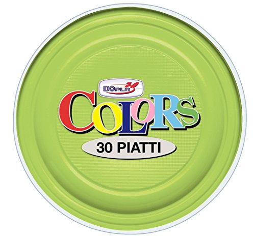 Dopla assiettes Vert Acide diamètre 22 cm 30 pièces