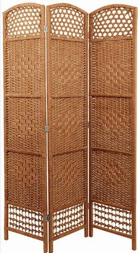 Paravent Weide Korbgeflecht - Spanische Wand Raumteiler