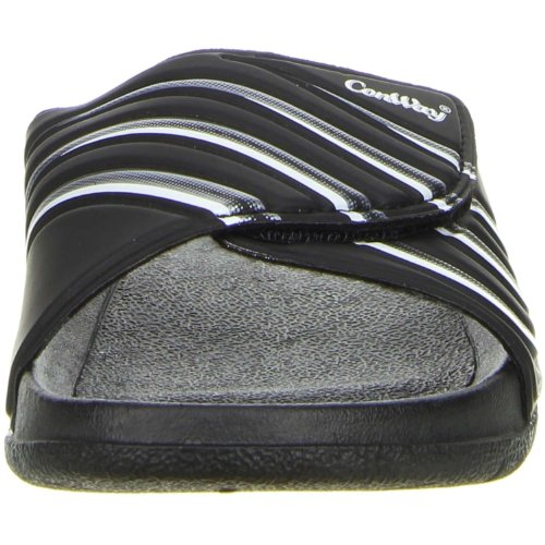 ConWay Damen Herren Badeschuhe schwarz Schwarz