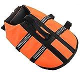 Gulunmun Rettungswesten für Hunde Schwimmweste Schwimmweste Schwimmhilfe für Hunde Schwimmweste Schwimmmantel Schwimmweste mit praktischem Tragegriff Orange, XXS