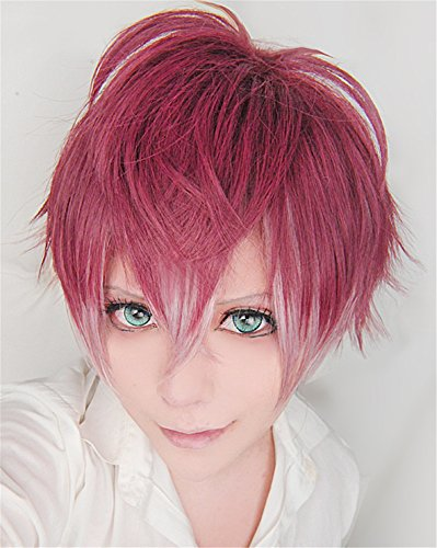 �cke DIABOLIK LOVERS Sakamaki Ayato Wine Red Mix Cosplay Party Fashion Anime Human Costume Full wigs Synthetic Haar Heat Resistant Fiber (Diabolik Lovers Cosplay Kostüm)