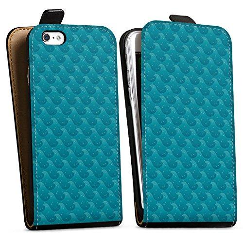 Apple iPhone X Silikon Hülle Case Schutzhülle Wellen Meer Urlaub Downflip Tasche schwarz