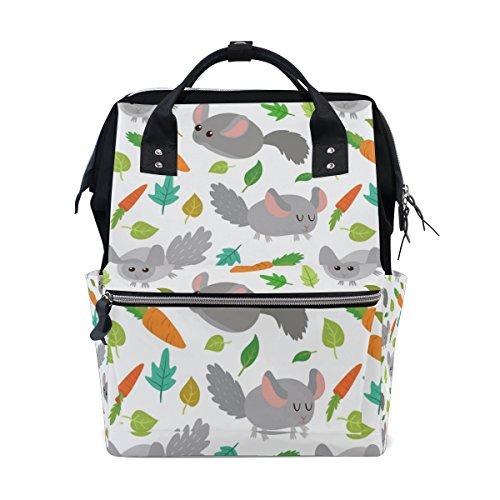 Mumien-Tasche, Wickeltasche, großes Fassungsvermögen, süßes Chinchilla, multifunktional, Reiserucksack (Chinchilla Tasche)