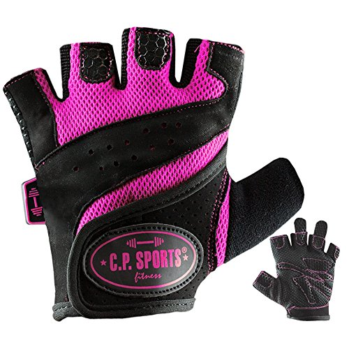 C.P. Sports Lady-Gym - Fitnesshandschuh M pink, Damen Trainings Handschuhe für Frauen