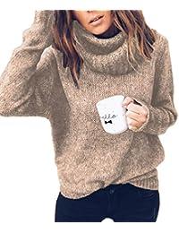 2d01371961 maglione con collo alto - Beige / Donna: Abbigliamento - Amazon.it