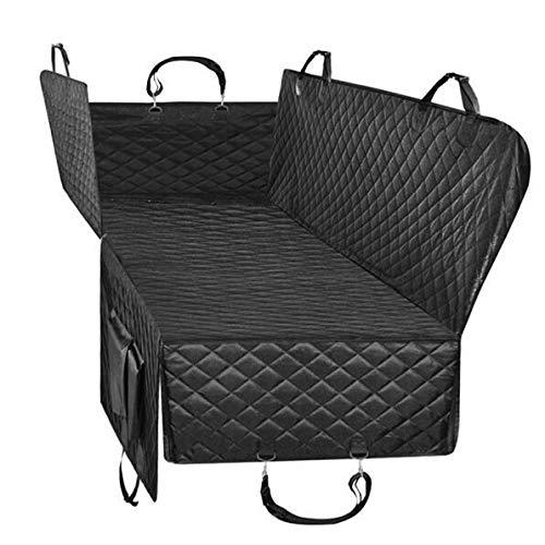T-F Hund Autositz for Luxus steppte Auto-Spielraum-Haustier-Hundefördermaschinen-Auto-Bank-Sitzabdeckung Wasserdichte Haustier Hammock Mat-Kissen-Schutz T-F (Color : Black, Size : 162x153cm) -