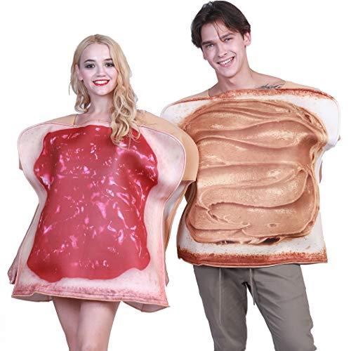 Toast Kostüm - Zoylink Party Kostüm Set Neuheit Kostüm Dekorative Jam Toast Cosplay Kostüm