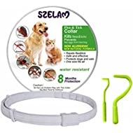 Flea and Tick Collar for Dog Cat, 8 Months Protection in Safety Ingredients Control, Premium Care with Two Tick Remover Tool to Remove Fleas, Ticks, Lice and Mosquitos