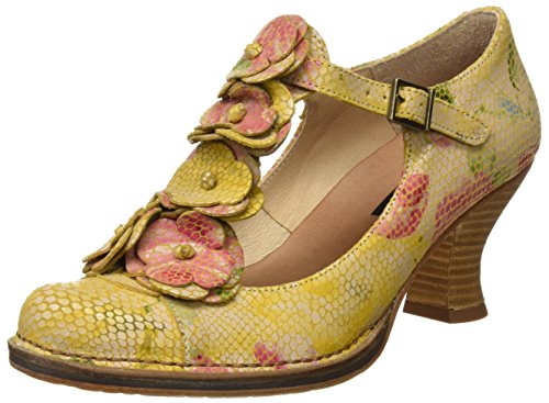 Neosens S868 Fantasy Floral Yellow Rococo, Chaussures avec Bande Verticale Femme Jaune (Floral Yellow)