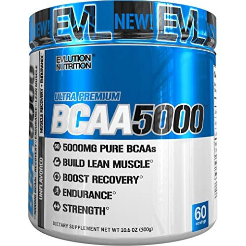 51Az OVSbXL. SS500  - Evlution Nutrition BCAA5000 Powder 5 Grams of Branched Chain Amino Acids (BCAAs) Essential for Performance, Recovery, Endurance, Muscle Building, Keto Friendly, Zero Sugar, 60 Servings, Unflavored
