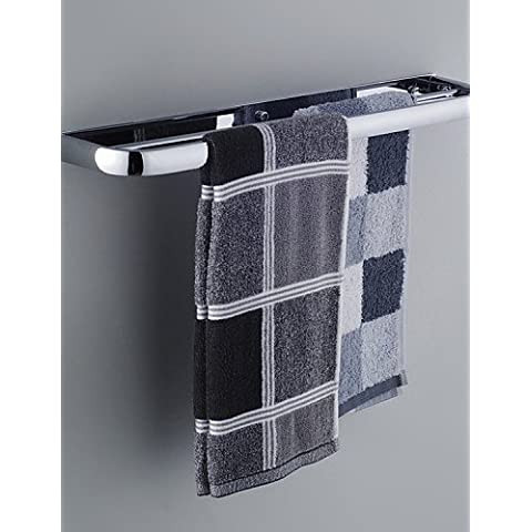 Accessori da bagno qmm,Portasciugamani a muro / Mensola del bagno / Portasciugamani termico / Gadget per il bagno Cromo A muro 10*17.5*66cm(3.9*4.6*26inch) , chrome