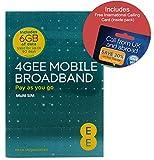 EE 4G 6GB UK & EUROPE PAYG Trio Data SIM - Mobile Broadband -6GB + FREE International Calling Card - (Love2surf RETAIL PACK)