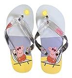 Mädchen / Kinder Gummi Sandale Zehentrenner Flip-Flops für den Strand, 4 Größen (29-30 Eur, 11-11.5, Strand Gelb)