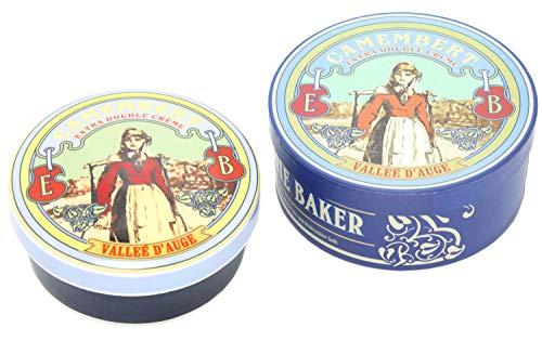 Olla cerámica para hornear quesos Camembert y Brie. Diseño vintage francés