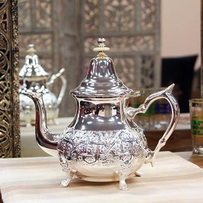 Théière marocaine Argentée Grand format