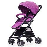 ZWL Bébé Panier Ultra-Léger Portable Peut S'asseoir Demi Couché Parapluie Enfant Chariot Pliant Simple Voiture Bébé,Purple
