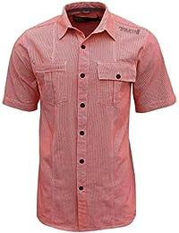 Henleys - Chemise à carreaux vichy longue et de grande taille (pour hommes)