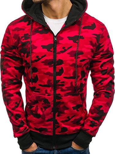 BOLF Herren Pullover mit Kapuze Sweatshirt Langarmshirt Sweatjacke Militär  Army Camo Muster 1A1 SchwarzDD129 6fe086f89b