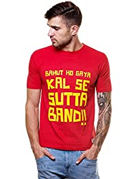 Enquotism Cotton Kal se sutta Band Round Neck T Shirt