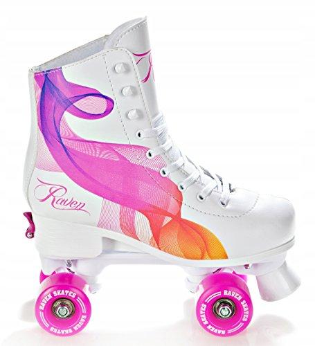 Raven Rollschuhe Roller Skates Serena verstellbar (35-38(22,5cm-24cm))