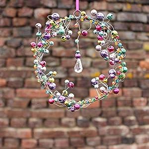 Fensterdeko Perlenkranz 12cm | Fensterschmuck bunt | Handmade | Fenster Deko | Geschenkidee