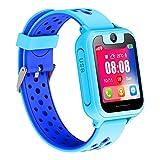 Reloj Inteligente Para Niños, Niñas y Niños Regalo de Cumpleaños o Festival SIM llamadas(Azul)