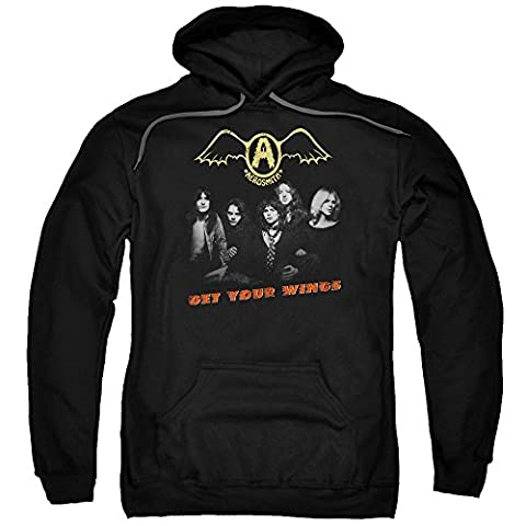 Aerosmith Rock Band Get Your Wings Adult Pull-Over Hoodie