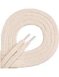 Di Ficchiano Qualitäts-Schnürsenkel - flach - ca. 7,0 mm breit - aus 100% Baumwolle, reißfest, 16 Farben, 45-200 cm Länge