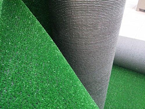 Manto Prato Sintetico Tappeto Erba sintetica Lungo 5 m x 1 mt (5 mq) - Drenante Alta Qualità