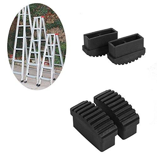 quici 4CPS Gummifüße rutschfeste Leiter Fuß Matte Pad Bezug Sicherheit Stoßstangen Ersatz Kit