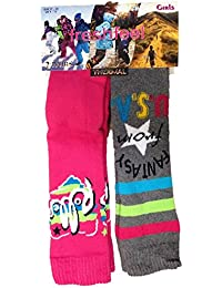 2 Pairs Fresh Feel Boys Or Girls Childrens Kids Thermal Ski Boot Socks Warm