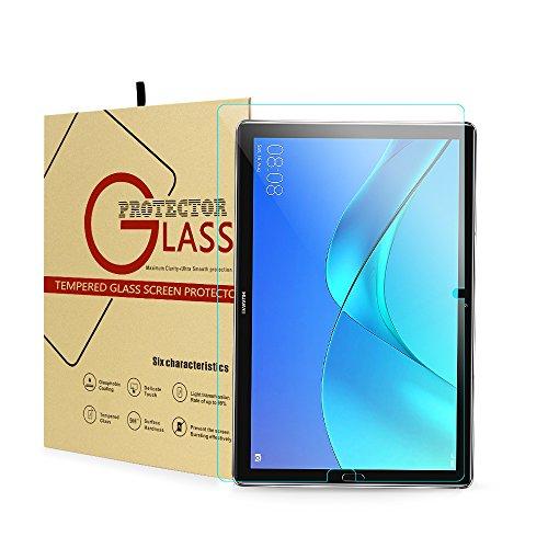 CHIN FAI Huawei MediaPad M5 / M5 Pro 10,8 Schutzfolie, 10,8 Zoll Tablet Display Ultra Slim gehärtetes Glas- [9H 0.33MM 2.5D] [Premium Clarity] [Kratzfest] [Bubble Free]