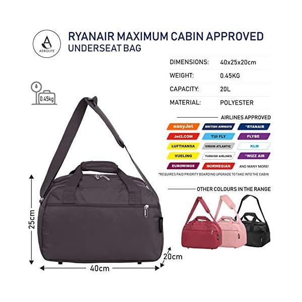 51Az4fdv0BL. SS600  - Aerolite noviembre Nuevo Ryanair 40x20x25 Tamaño máximo de la Cabina del Equipaje del Bolso Bolso de Viaje de Vuelo…