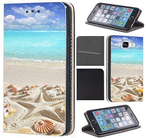 Hülle Beidseitig LG G6 LG G6 Hülle von CoverHeld Premium Flipcover Schutzhülle Flip Case Motiv (1517 Strand Meer Sonne Urlaub Muschel) (Lg Muscheln)