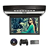NAVISKAUTO 10,1' Deckenmonitor DVD Player HD Auto Monitor Multimedia TFT LCD Bildschirm Dachinnenbeleuchtung Wireless Controller Fernbedienung Unterstützt USB Sticker/ SD Karte R1001B