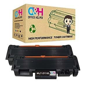 OFFICE HELPER 2 Toner Compatibile Cartuccia del toner Sostituzione per Samsung MLT-D116L MLT-D116S Cartuccia del toners Compatibile con Samsung Xpress SL M2835DW M2885FW M2825 M2875 M2826 M2876 M2625 M2626 M2675 M2676 (2Black)