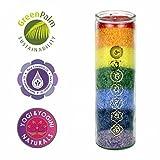 Panotophia 7 Chakra Kerze Chakren Glaskerze Ritualkerze mit ätherischen Ölen -