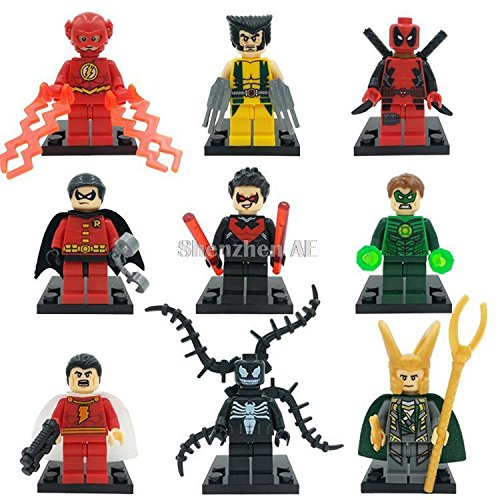 Marvel Super Heroes Figure Fit Lego Minifigure 16X Deadpool Minifigure