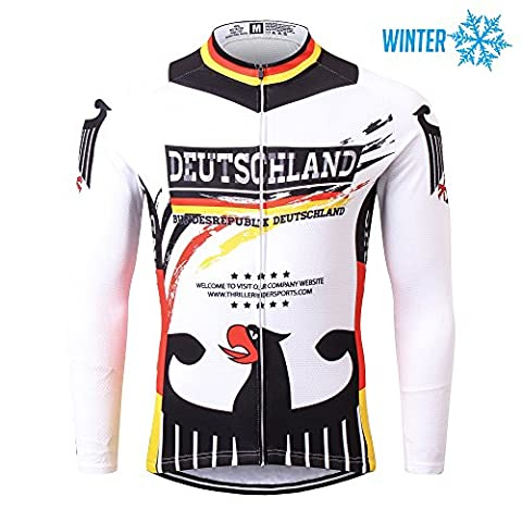 Thriller Rider Sports® Mens Germany Flag Outdoor Sports Mountain Bike Winter Thermal Warm Long Sleeve Jacket