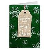 Sheepworld - 90470 - Klappkarte, mit Umschlag, Weihnachten, Nr. 27, Filz, Ein frohes Fest und einen guten Rutsch ins neue Jahr!
